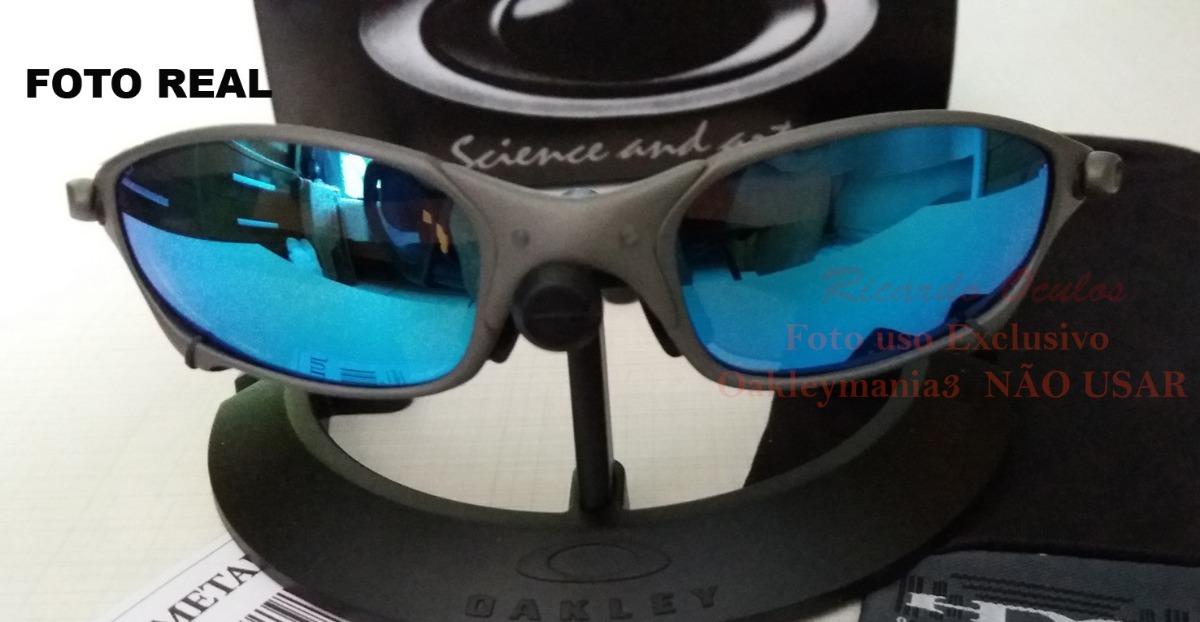 oculos juliet xmetal lente azul ice thug polarizada u.s.a. Carregando zoom. f9dce4b64f