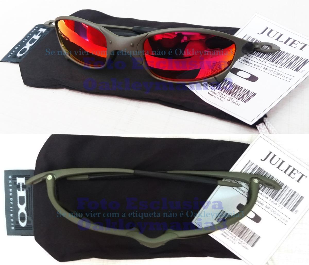68e1d84083041 oculos juliet xmetal lente vermelha red fire polarizada. Carregando zoom.