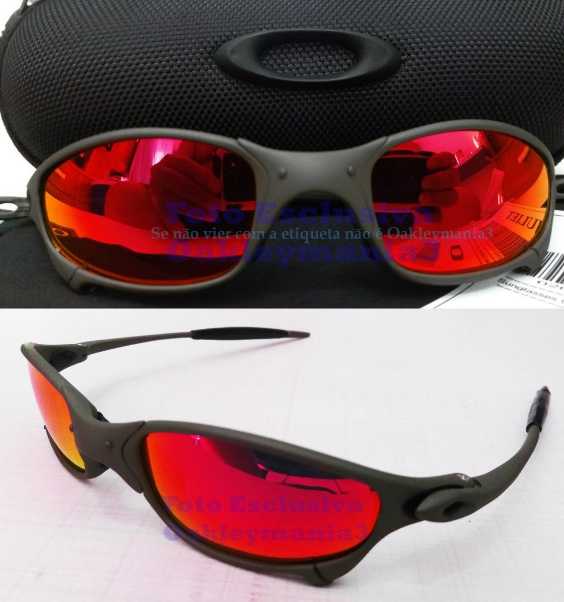 a904ddfc1 oculos juliet xmetal lente vermelha red fire polarizada. Carregando zoom.