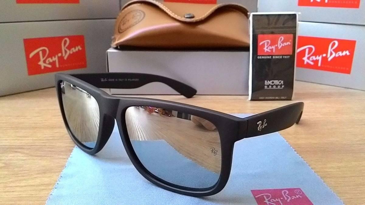 c9d93d1141b91 óculos justin rb4165 polarizado masculino prata espelhado. Carregando zoom.