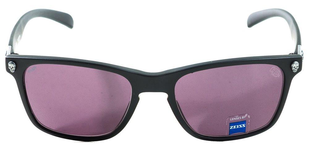 óculos khaos hb skull matte black s aged silver gray lenses. Carregando  zoom. 2e879e9887