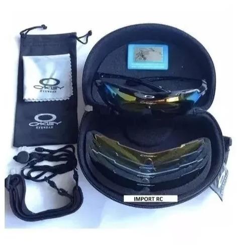 Óculos Kit Ciclista Oakley 5 Lentes Kit Esportes Tático - R  180,00 ... b8f9f334e3
