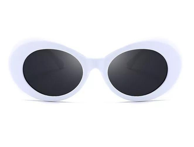 29943806a8a58 Oculos Kurt Cobain Oval Retro Branco Lente Cores Uv400 - R  49,90 em ...