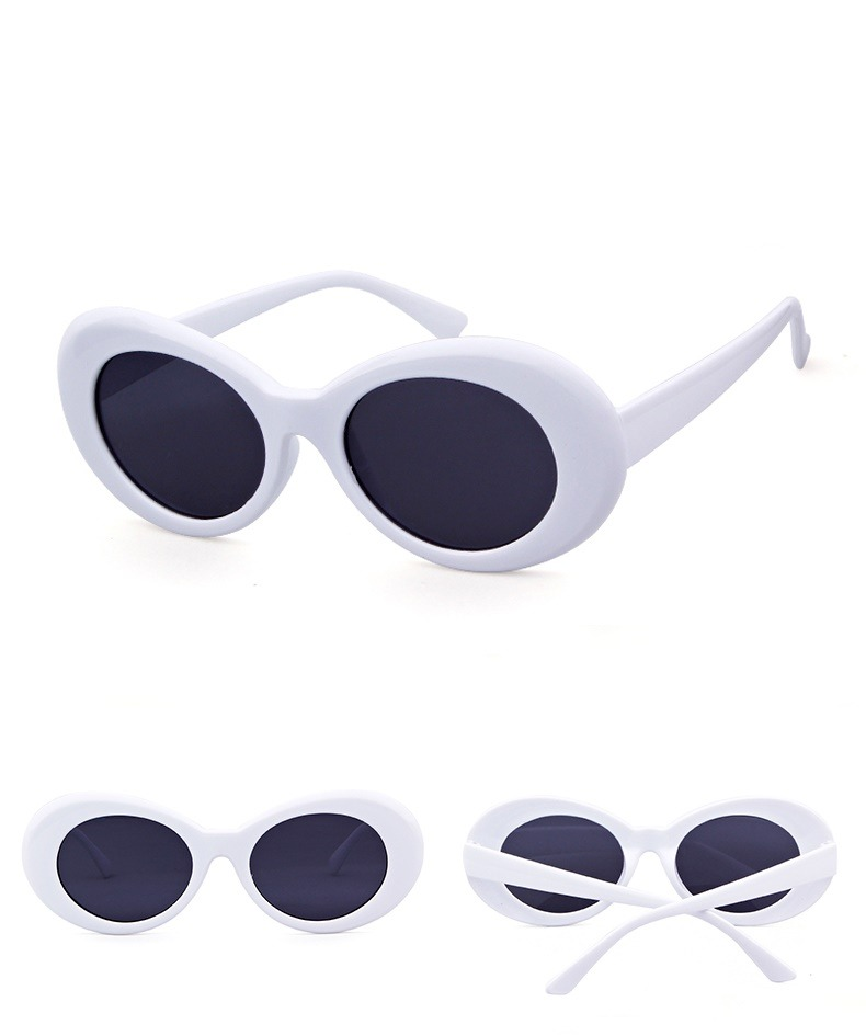 b0196dd011588 oculos kurt cobain oval retro branco lente cores uv400. Carregando zoom.