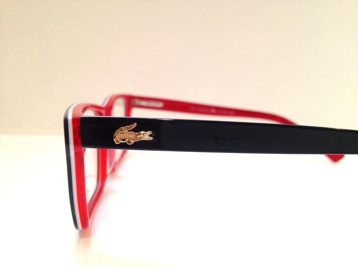 0f02764217799 Carregando zoom... armação de óculos lacoste acetato azul escuro c  vermelho