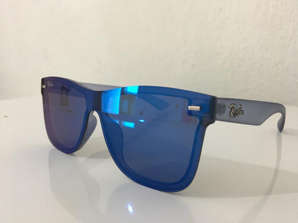 a8531467ecfca óculos lançamento lente unica lente flat espelhado azul. Carregando zoom.
