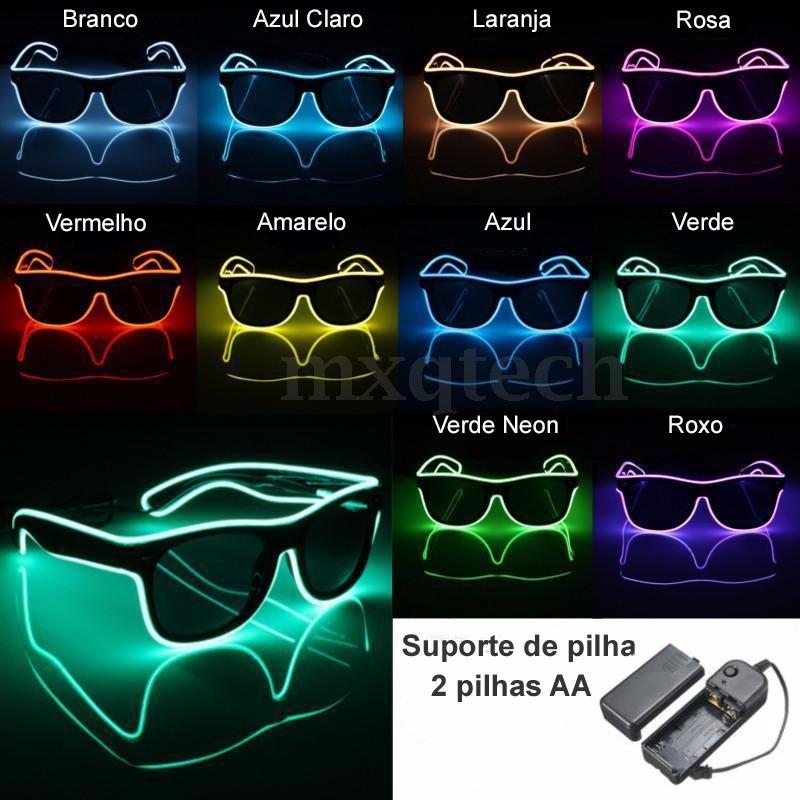 f28508dc9a402 oculos led brilha no escuro   luz negra   fluorescente fluor. Carregando  zoom.