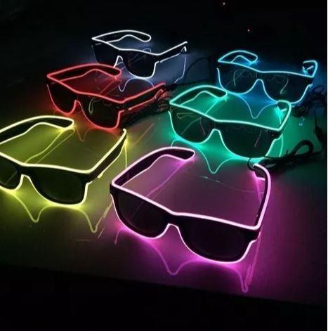 2ef9d99e1 Óculos Led Para Festivais, Casamentos, Baladas Eletrônicas, - R$ 68 ...