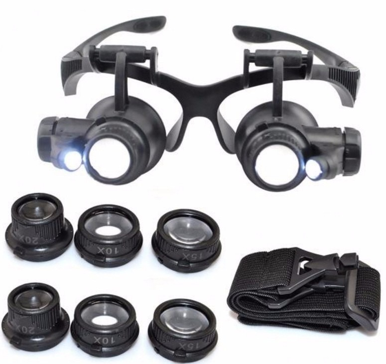 Oculos Lente Aumento Lupa Duplo Aumento Led Precisão - R  48,80 em Mercado  Livre edff9fbc3c