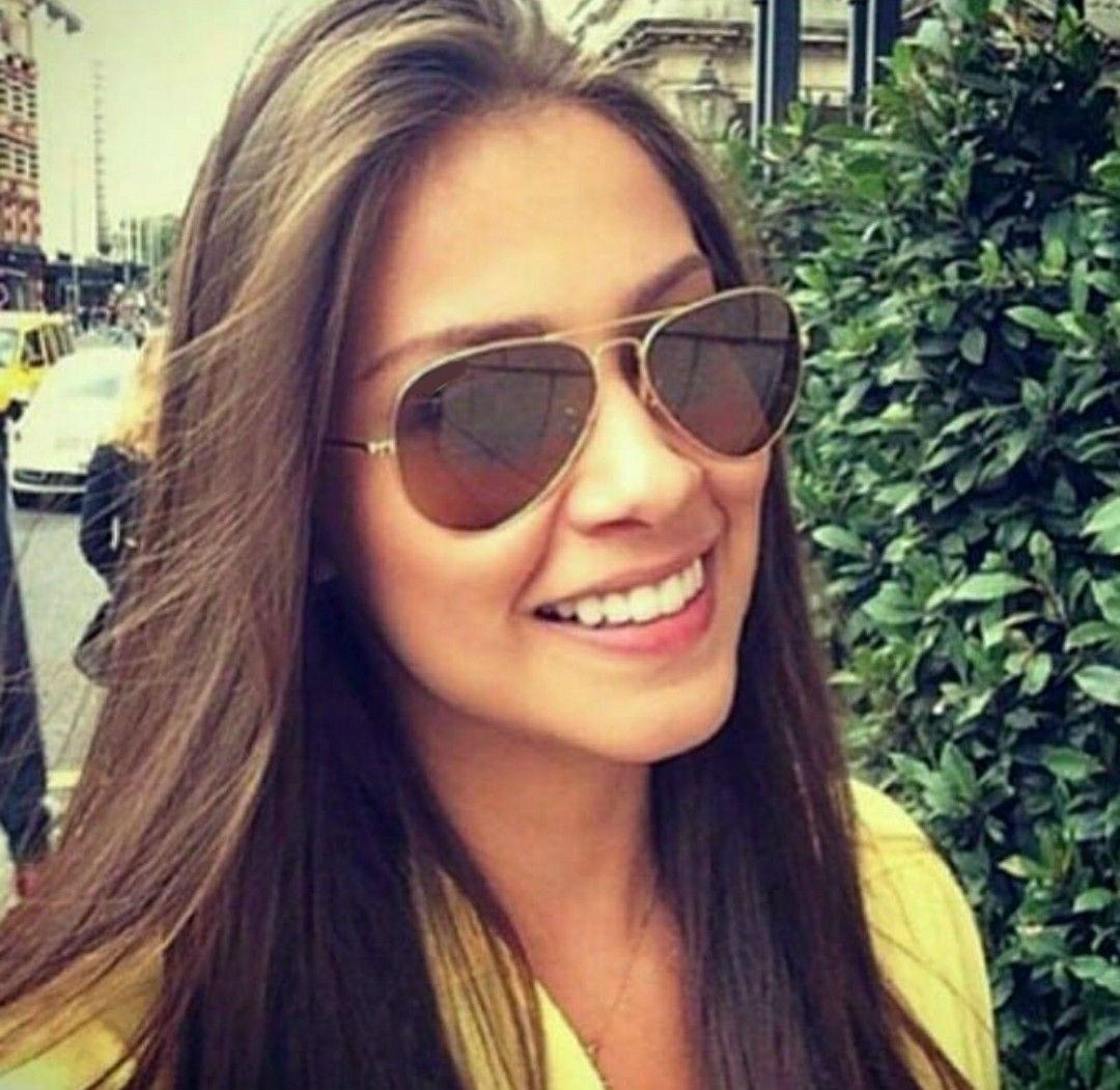 óculos lente degrade marrom para mulher modelo aviador praia. Carregando  zoom. 83e48f7182