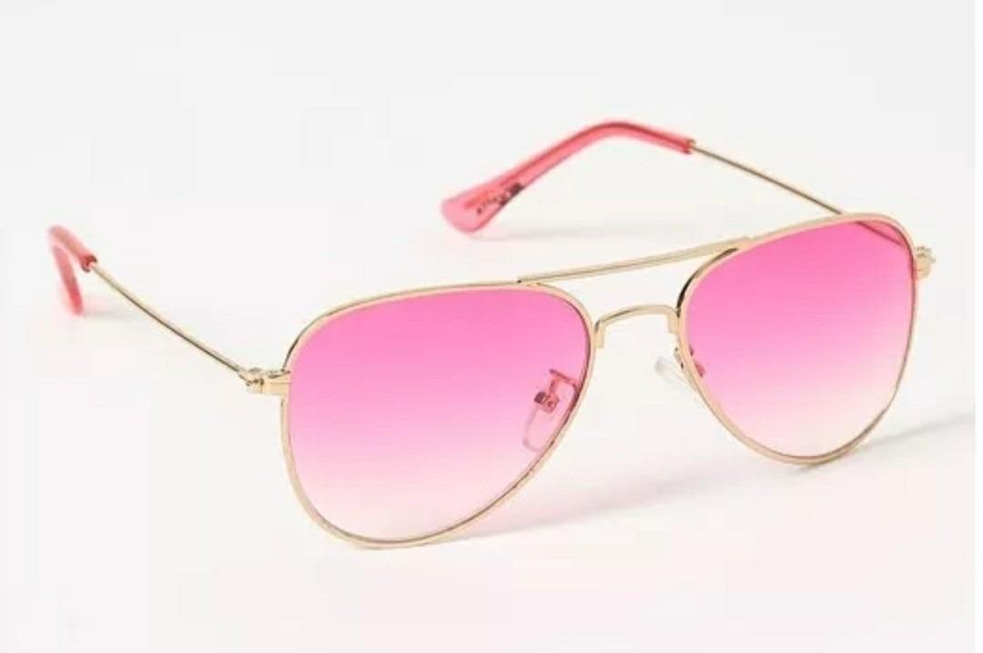 155403c06 óculos lente rosa degrade menina infantil aviador colorido. Carregando zoom.