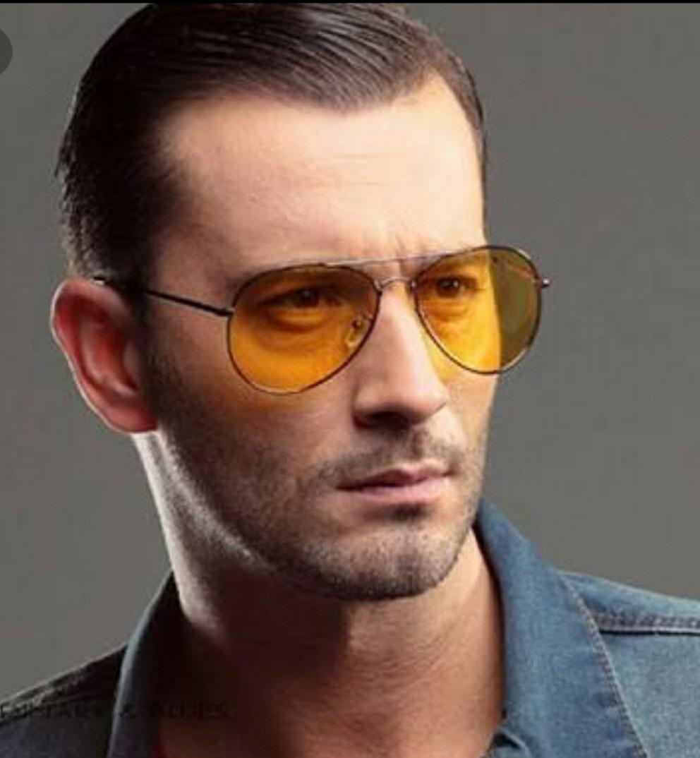 bfcf151b20f24 óculos lente transparente amarela aviador masculino colorido. Carregando  zoom.