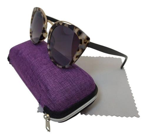 óculos liquida feminino de sol gatinho cat degradê leopardo