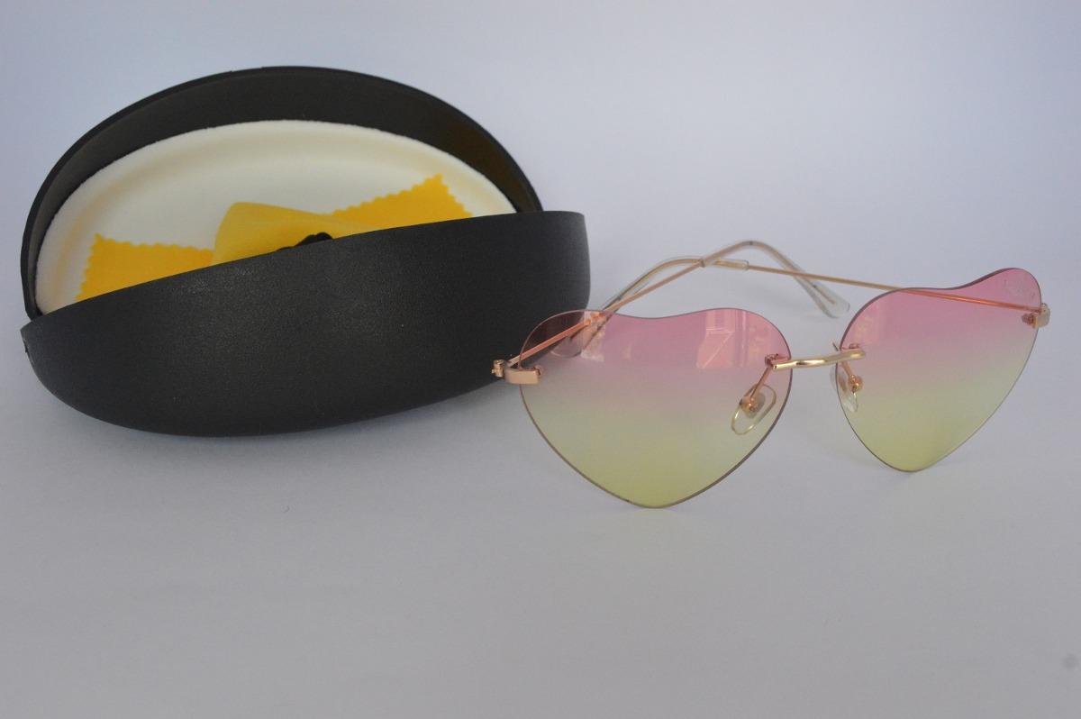 óculos lolita coração degrade transparente presente feminino. Carregando  zoom. 69fe6a2055