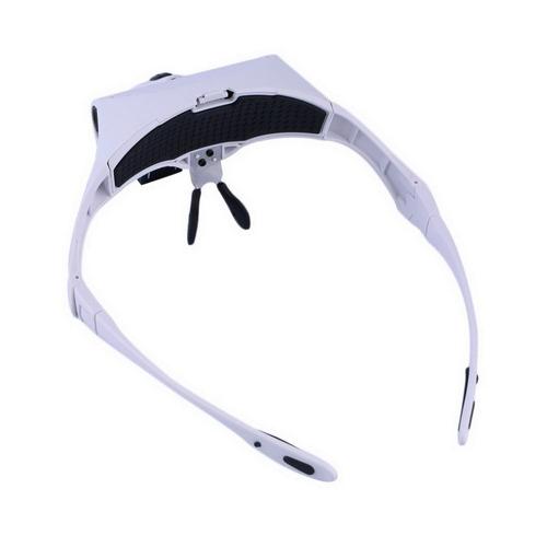 oculos lupa cabeça dentista costura 5 lentes luz led