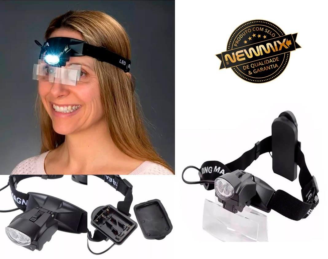 oculos lupa de cabeça com elástico 5 lentes estojo e 2 leds. Carregando  zoom. 3e357442bf