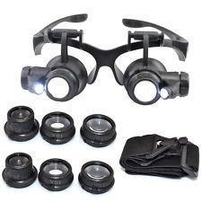 Oculos Lupa De Cabeca Profissional Jogo De 4 Lentes + Leds - R  42 ... 2cbafa5dd7