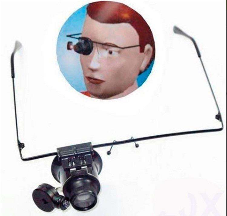 e13a6c19f3082 Óculos Lupa De Precisão Com Led Articulável Lente Lee Tools - R  35,00 em  Mercado Livre
