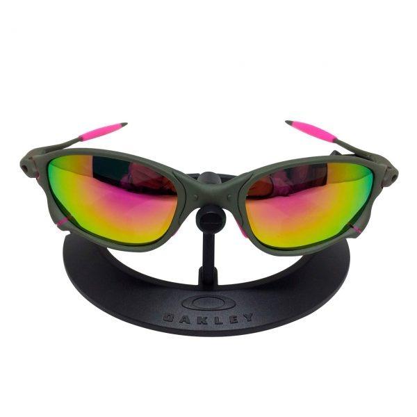 430d4c5728203 Oculos Lupa Double X X X Metal Lentes E Borrachas Rosa Pink - R  120 ...