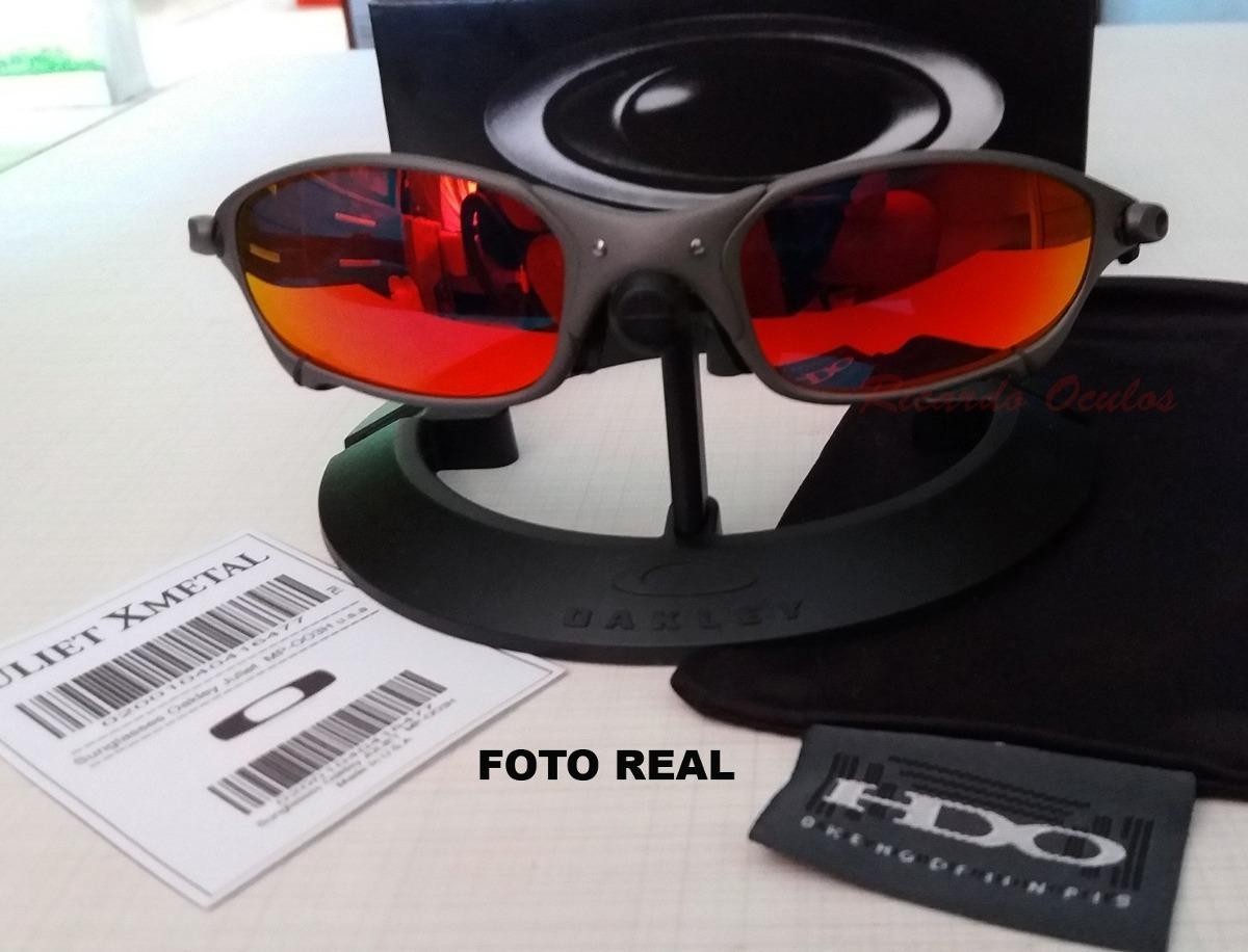 4f6683d09 oculos lupa oakley juliet x metal lente ruby polarizadas. Carregando zoom.