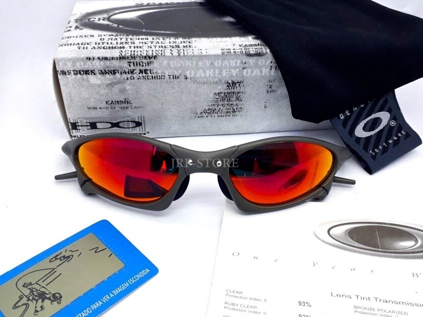 oculos lupa oakley penny x metal lente fire red polarizadas. Carregando  zoom. 89df911a0d9