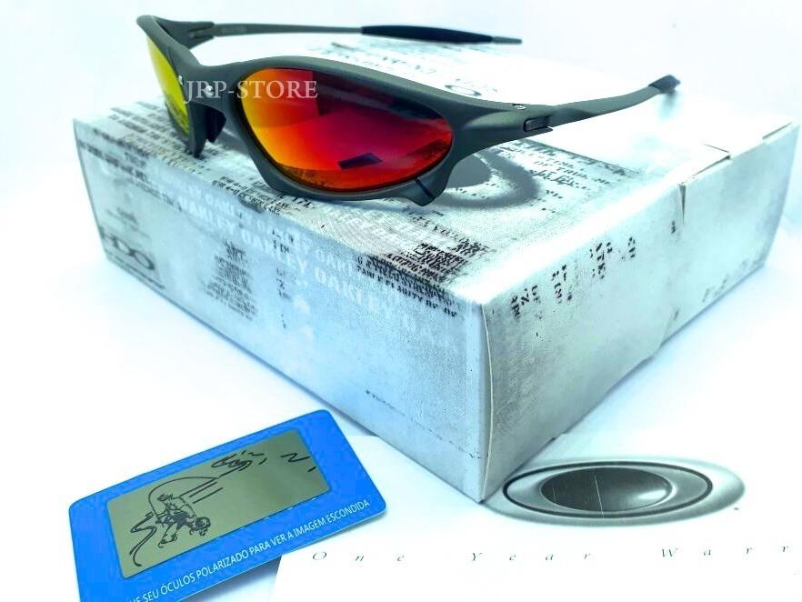 09edaf573f608 oculos lupa oakley penny x metal lente fire red polarizadas. Carregando  zoom.