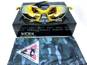 bb06677dc Oakley Juliet Prata Com Lente Dourada Gold 24k - Óculos no Mercado Livre  Brasil