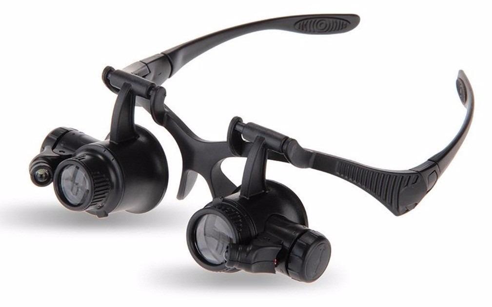 85b937ac6 Óculos Lupa P/ Solda Reparo Eletrônica C Luz Própria 25x - R$ 60,70 ...