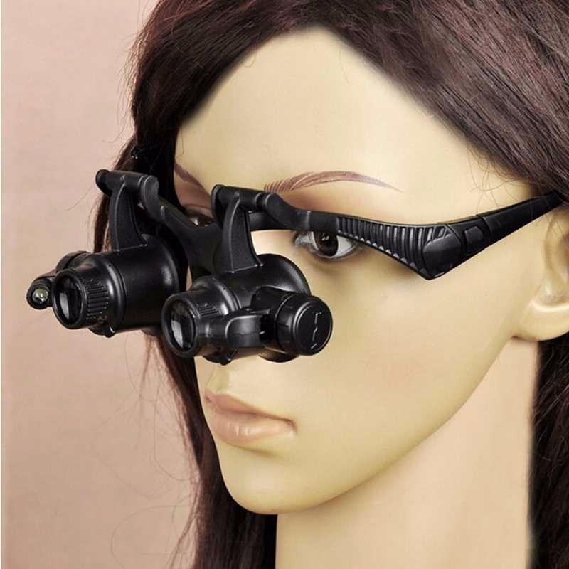 795cd931f27a2 Óculos Lupa Relojoeiro Joalheiro C  Luz   Ajustável - R  64,90 em ...