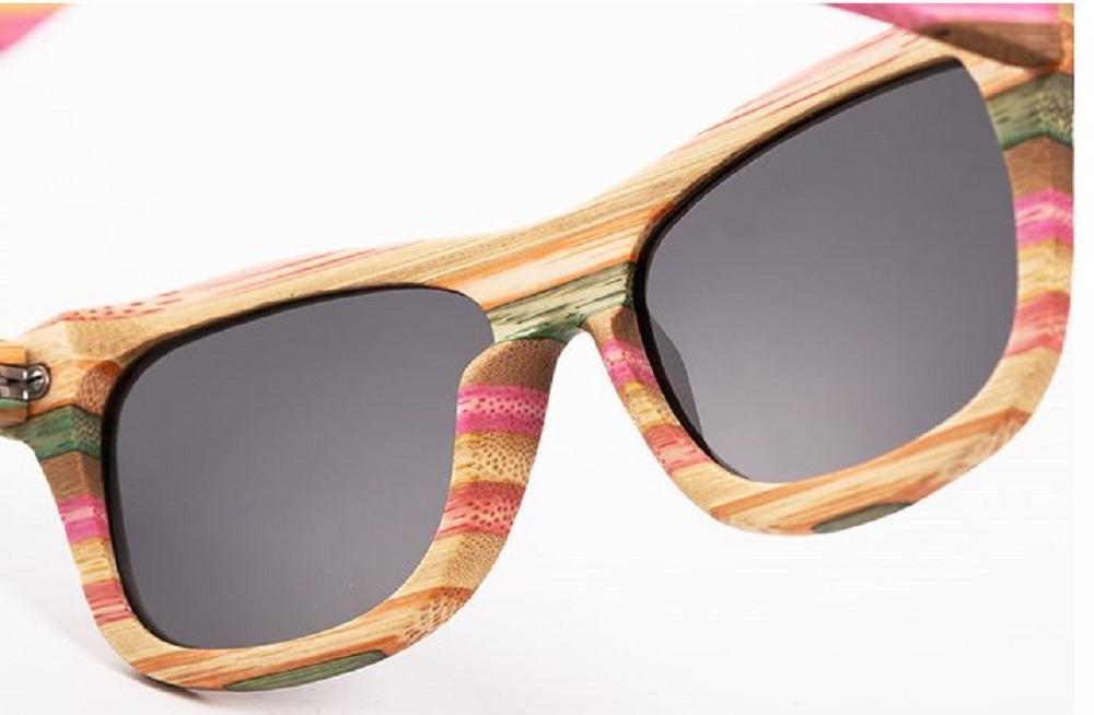 2e8da2390 Óculos Madeira Polarizado Bambu Quadrado Uv400 + Cx Madeira - R$ 179 ...