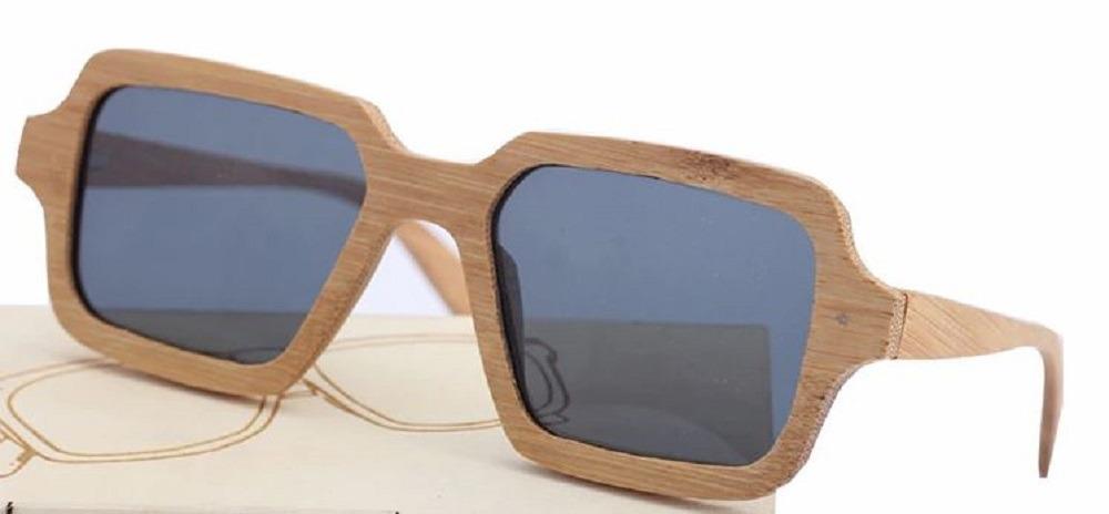 d205944f2 Óculos Madeira Polarizado Bambu Uv400 Quadrado Com Caixa - R$ 179,31 ...