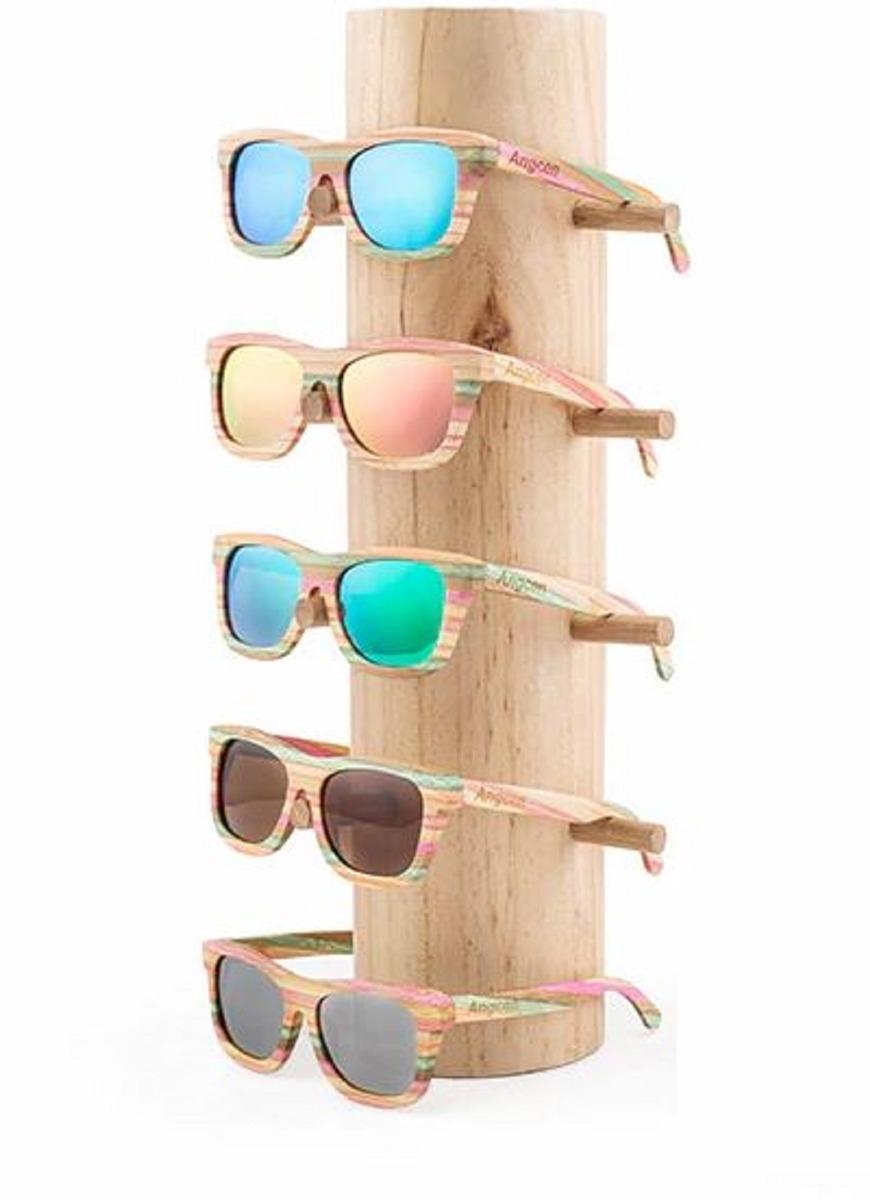 553e46652 Óculos Madeira Polarizado Bambu Uv400 Quadrado + Cx Madeira - R$ 179 ...