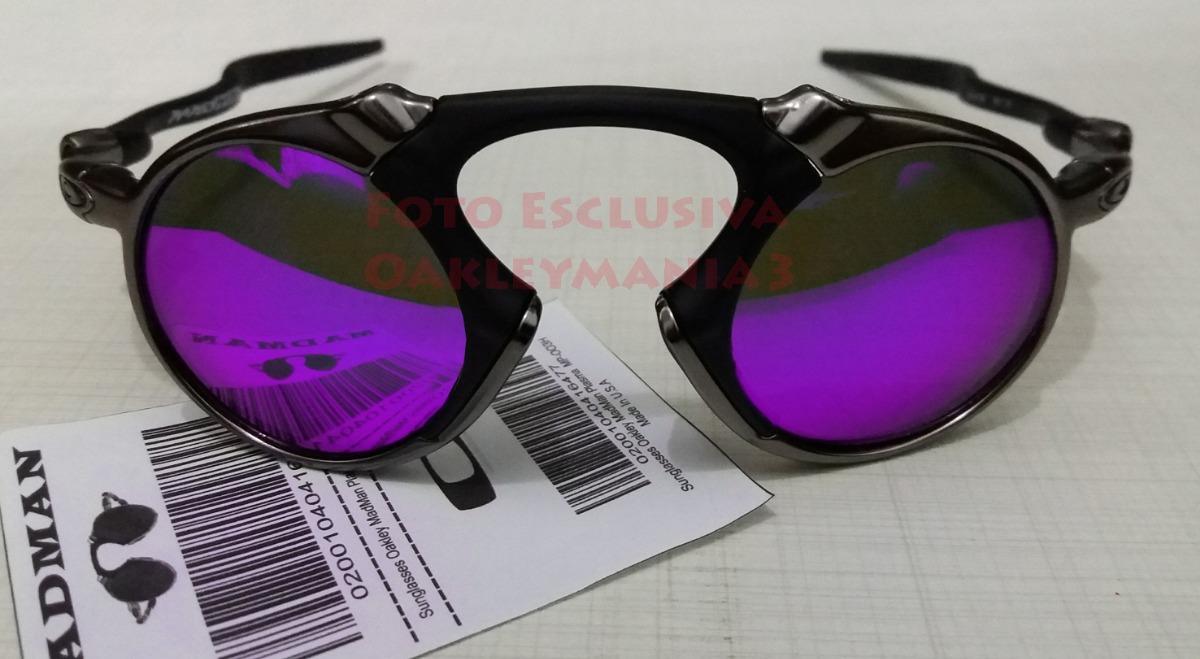 oculos madman black grafite lente violetas polarized+case. Carregando zoom. da6b38b7b0
