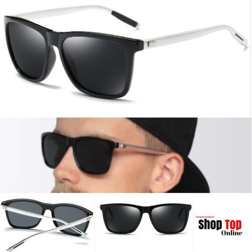 a1e6f6e19 Óculos Marca Famosa Masculino Preto Escuro Espelhado Barato - R$ 124 ...
