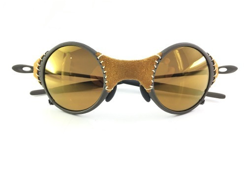 c35a1f0fd6370 Oculos Mars Oakley Letaher Gold Couro Jordan 12x Boleto Top - R ...