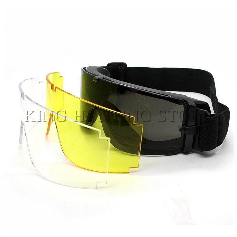 óculos mascara googles x800 3 lentes tatico airsoft army 2.7. Carregando  zoom. 038fe46c0f