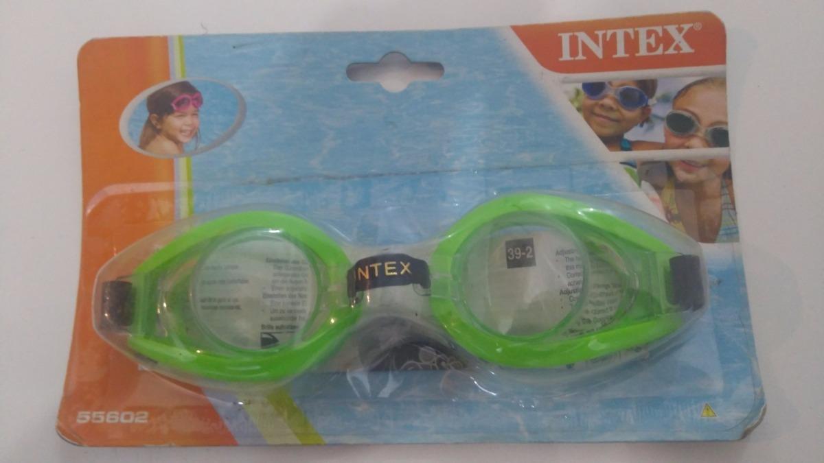 Óculos Máscara Infantil De Mergulho Piscinas Intex - R  15,99 em ... d8185c864b