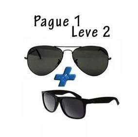 717a3284b Oculos De Sol Com Lentes De Cristal Polarizada no Mercado Livre Brasil