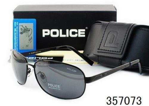 Óculos Masculino Aviador Police Genuíno Anti Uv400- Preto - R  120 ... 35ef432e36