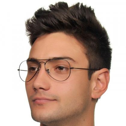 844ee80f339ac Óculos Masculino Aviador Sem Grau Estiloso Clássico Promoção - R  39,71 em  Mercado Livre