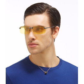 Óculos Masculino Dirigir À Noite Polarizado Proteção Uv 400
