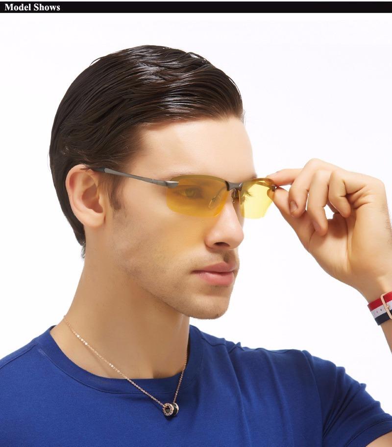 óculos masculino dirigir à noite polarizado uv400 amarelo. Carregando zoom. 72f894aa01