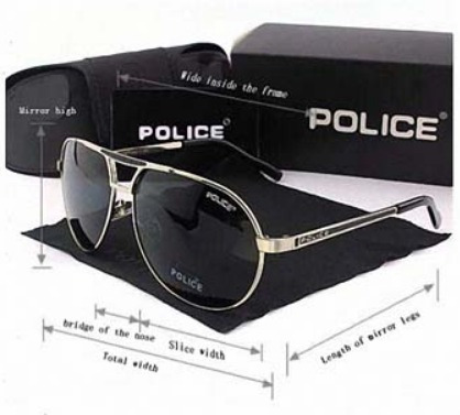 Óculos Masculino Escuro Aviador Police Anti Uv - Promoção - R  139 ... ce2cc14235