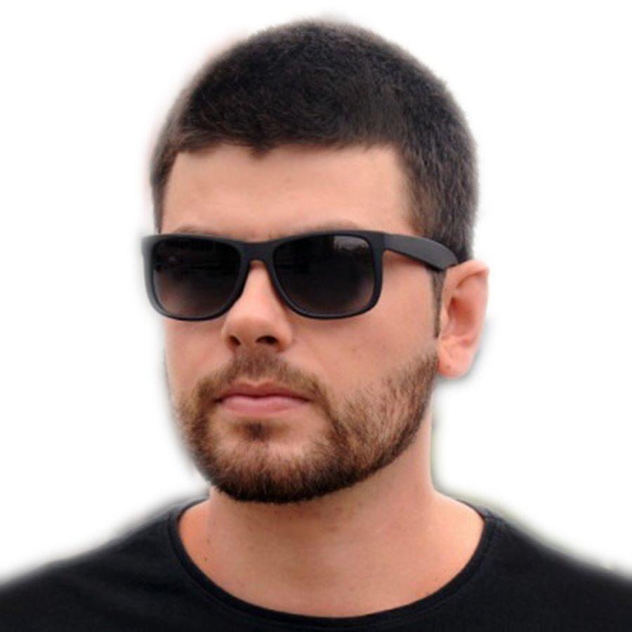 óculos masculino feminino espelhado justin quadrado preto. Carregando zoom. 813ff3f155