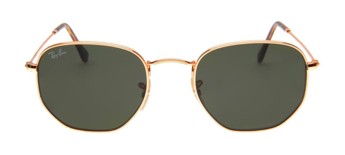3617a764c21e8 oculos masculino - feminino ray ban hexagonal + brinde. Carregando zoom.