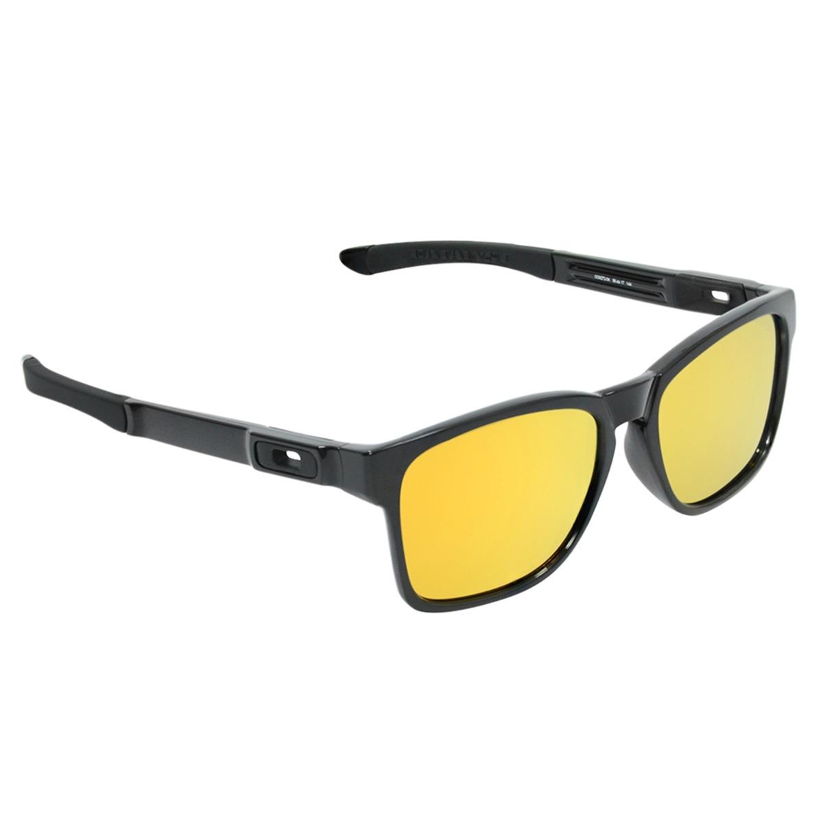 Óculos Masculino Oakley Catalyst Polished Black 24k - R  399,90 em ... 41c384a853