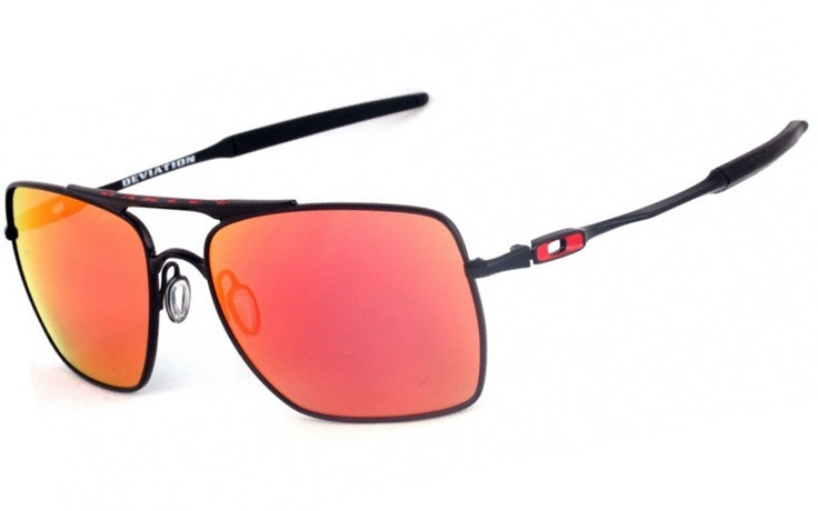 46bd67eee Óculos Masculino Oakley Deviation Lente Vermelha Polarizada - R$ 141 ...
