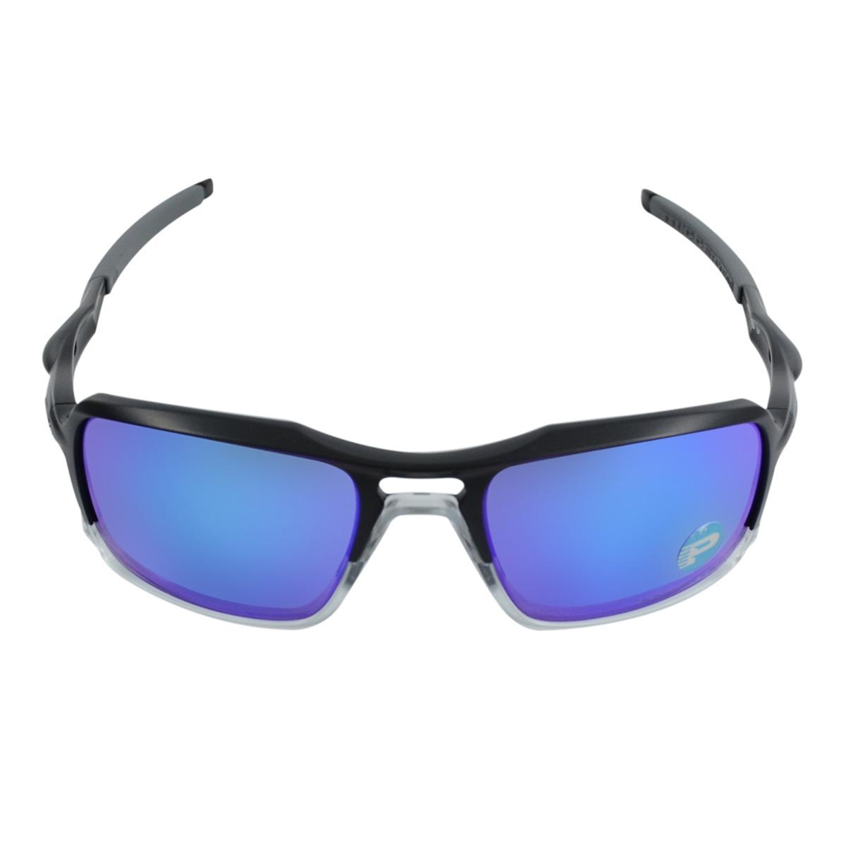 4d75ab21f154b óculos masculino oakley triggerman matte black sapphire pola. Carregando  zoom.