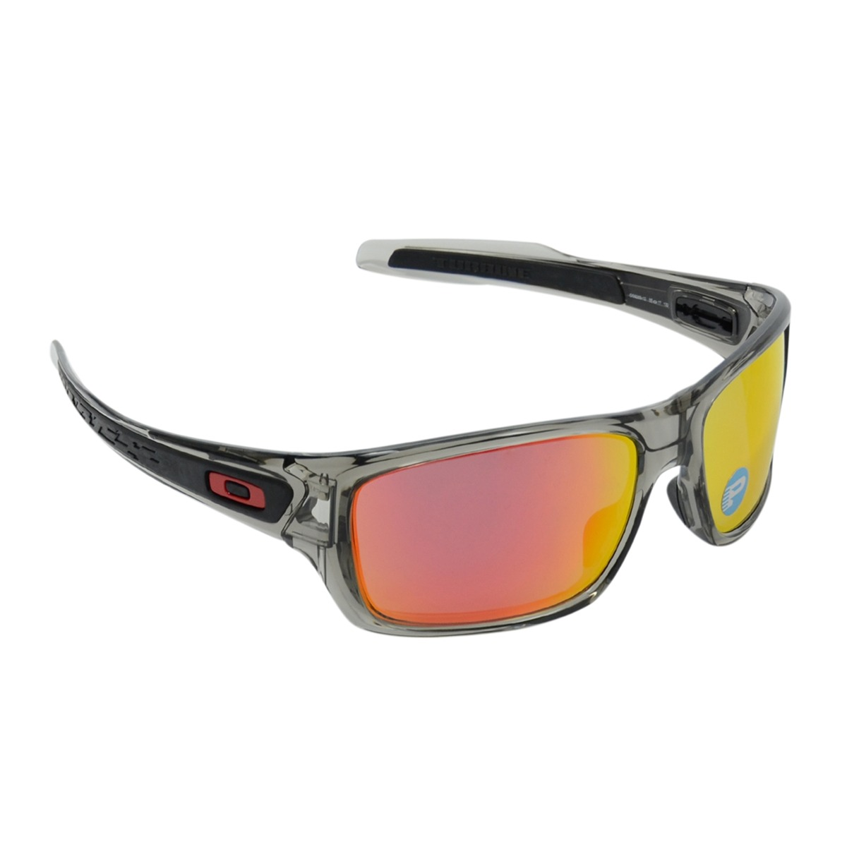54d46a950 Óculos Masculino Oakley Turbine Grey Ruby Polarizado - R$ 660,00 em ...