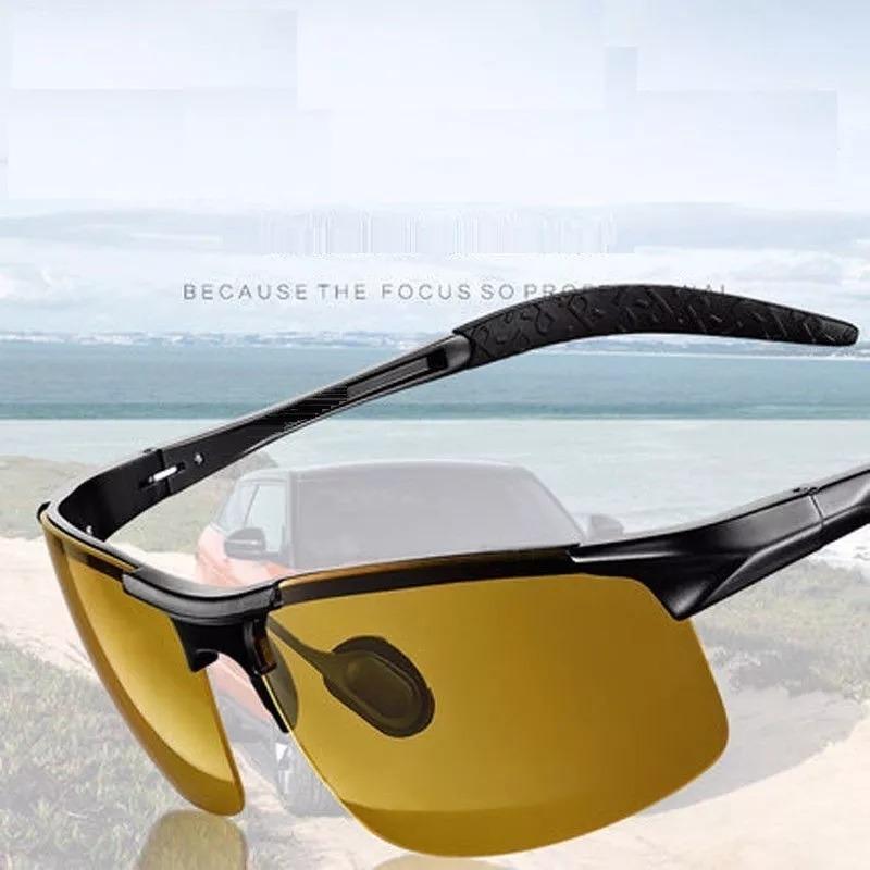 e44e92535d04f óculos masculino para dirigir à noite com lentes polarizado. Carregando  zoom.